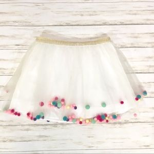 Girls White tutu skirt